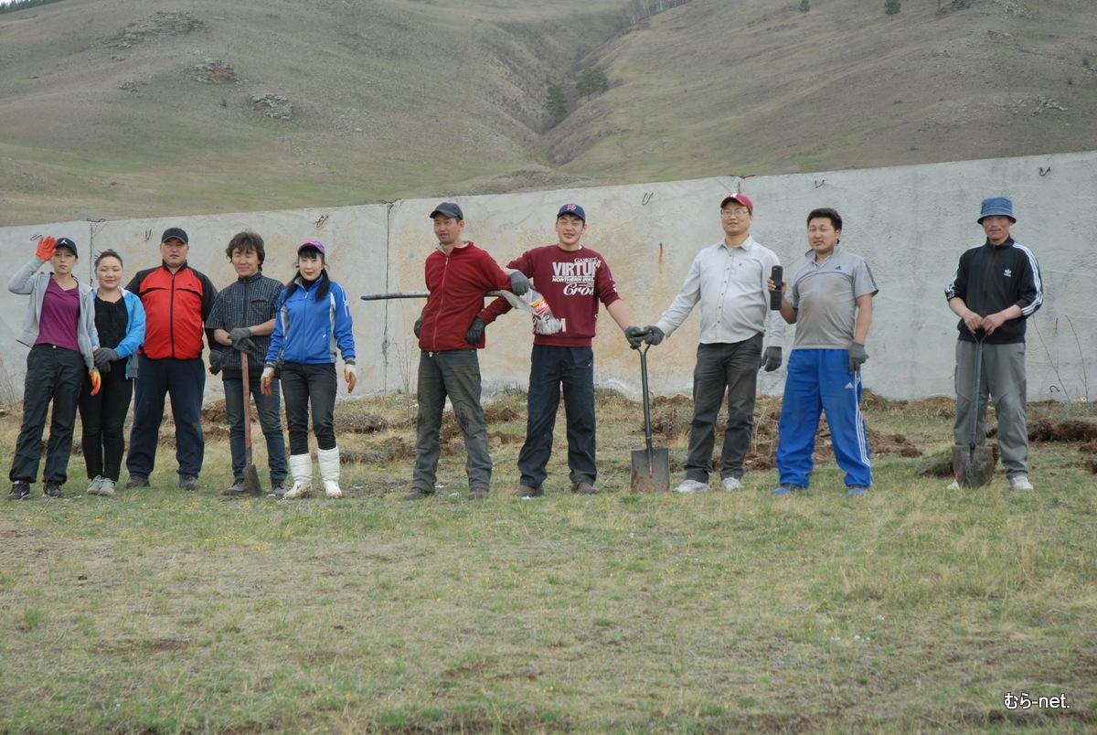緑の公園へ『植樹』【モンゴル】