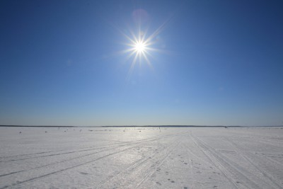 風連湖の太陽