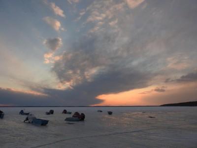 風連湖の夕景