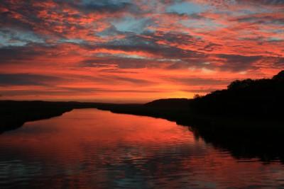 ヤウシュベツ川の夕日