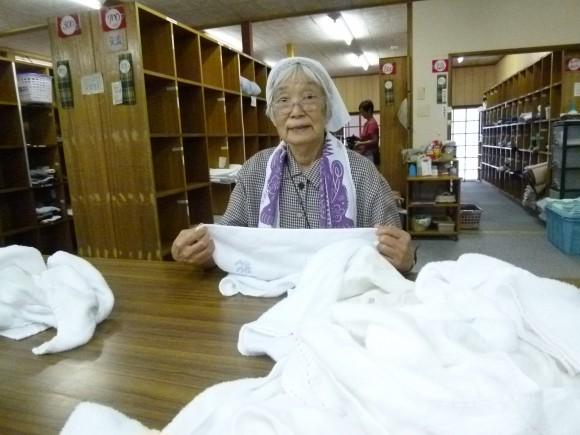 佐藤孝子(76)みんなでやるリズム体操も楽しいよ。