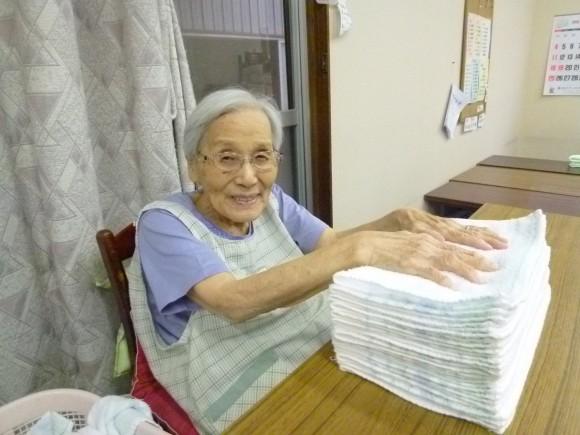 野尻尉子(90)みんなの中でやるのが楽しい。