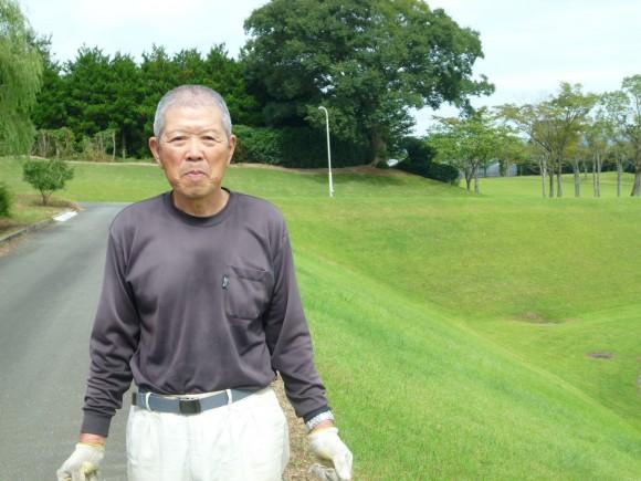 池内道明(75)緑地公園の芝刈りは2日に1回