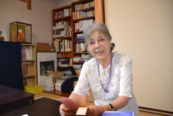新島里子(86)豊里で94年より毎月句会をやっています。美里や春日からも来てくれ、俳句バンザイです。