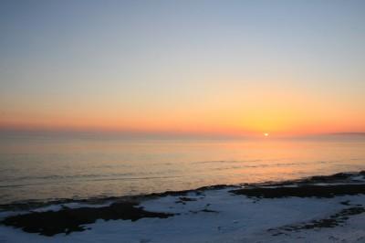 根室海峡の朝