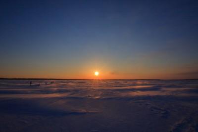 風連湖の日の出
