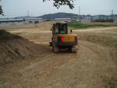 造成が進む建設予定地