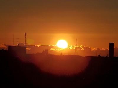 生活館屋上からの朝日