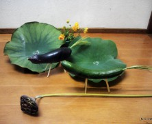 村の文化展に日本のお盆文化【岡部】
