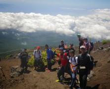 高校生富士山登山