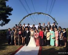 ユ・ジェホさん、オ・テミさんの結婚式