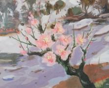 2月の絵『待春』