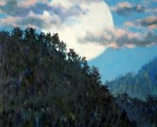 『山のお寺とお月さん』
