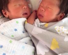 久保田大雅・奈緒枝夫妻に第二子・三子誕生