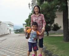 年中の息子を、岡部の楽園村に送りました。