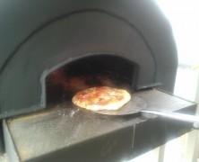 「ピザ」焼けました!!