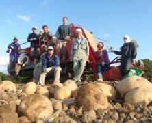 ジャガイモ収穫、無事完了!【夕張】